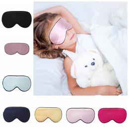 Шелковые прокладки онлайн-Дети шелк отдых сон маска для глаз мягкий оттенок обложка путешествия расслабиться повязки на глаза крышка Спящая маска уход за глазами красота инструмент 16styles RRA1673