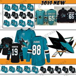 san jose jerseys Coupons - San Jose Sharks Hockey Jersey 8 Joe Pavelski 88  Brent Burns 5776623aa