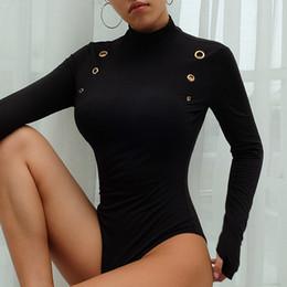Сексуальные клубные рубашки бесплатная доставка онлайн-Комбинезоны женские Комбинезоны Rompers Женская одежда Боди футболка с длинным рукавом Женщины Карандаш Skinny Sexy Club Лето Бесплатная доставка 2019