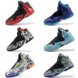 Scarpe da basket lebron 11 online-generazione di combattimento da uomo Scarpe da basket per bambini grigio scarpe da esterno lebron 11 scarpe da basket sportive