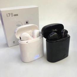 Par de auriculares bluetooth online-Precio al por mayor i7 i7S TWS Gemelos Auriculares Mini Bluetooth V4.2 Auriculares Estéreo Juego de Par de Auriculares Con Caja de Cargador Para Iphone Sumsung