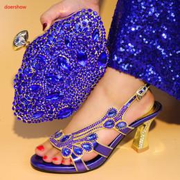 conjuntos de bolsas de casamento sapatos Desconto Doershow Mais Novo Mulheres Africanas Combinando Sapato de Design Italiano e Saco Conjunto para o Casamento Italiano Sapatos com Saco de Harmonização Itália SA1-46