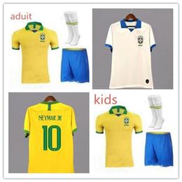 40acfea0c Brasil American Cup soccer jerseys Brazil MEN Jersey 19 20 JESUS COUTINHO  FIRMINO MARCELO football kit shirt camisa Football Shirt G.JESUS