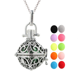 70cm Silver Tone Hollowed Alloy Motorcycle Locket Oil Diffuser Pendants Necklace