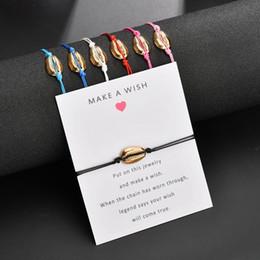 casais infinito pulseiras Desconto Amizade Pulseira De Liga De Metal com Cartão De Desejo Shell Abacaxi Infinito Charm Bracelet para Presentes de Amigos Casal Jóias