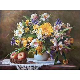 Вазы для картин онлайн-офисные стены искусства цветок в вазе средиземноморские пейзажи картины маслом ручной росписью