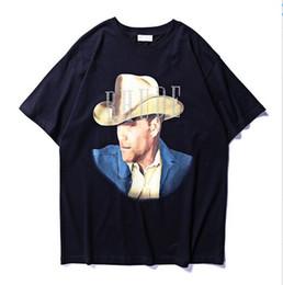 Short de cowboy homme en Ligne-2019 été Style Rhude Cowboy Imprimé Femmes Hommes T-shirts T-shirts Hiphop Streetwear Hommes Coton T-shirt À Manches Courtes RHUDE
