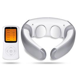 FEIE Electric Pulse Back and Neck Massager Strumento per alleviare il dolore nel riscaldamento a infrarossi lontano Assistenza Sanitaria Relax S-305 da cuscini sicuri fornitori