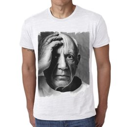 cd5e6cae55374 Pablo Picasso  Men s T-shirt Celebrity Star The New Short Sleeve T-Shirt  Funny Print Men Short Sleeves