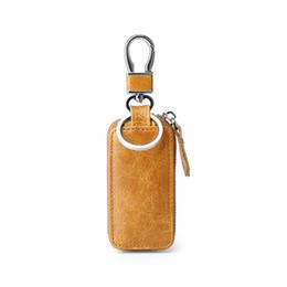 Araba anahtarı cüzdan deri erkekler ve kadınlar iş hediye vintage tatil hediye deri ev anahtar dava unisex Avrupa dış stil nereden araba el kitapları tedarikçiler