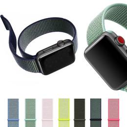 нейлоновые наручные часы Скидка Для Apple Watch iWatch Band 42 мм 38 мм Нейлон Мягкий дышащий Спортивная петля Регулируемый ремешок для закрытия для Apple Watch 3 2 1