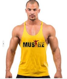Canada 2019 gym Nouveaux Hommes Sports Professionnels Fitness Pur Coton Alphabet Imprimé Hurdle D'été Sweat Taille Formation gilet Offre