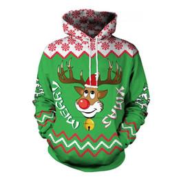suéter de reno Rebajas Descubre el nuevo suéter de impresión digital de renos en 3D del día de Navidad europeo y americano