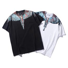 marcelo burlon hemden Rabatt MB MARCELO BURLON T-Shirts für Herren Swing Printed Kurzarmshirts Oansatz Tees Luxus Designer Kleidung