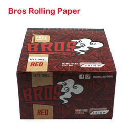 Rauchpapier braun online-Rot Rosa Braun Regular King Size 110 * 52mm Bros Pre-Roll Blättchen Raw für trockene Kräuter Blume Cigarette Smoking Roller Papier