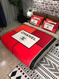 Art und Weisemarkenfarbe warme C-Markenbettwäschewinter warmer Kristall, der vierteilige doppelseitige Samt- und Plüschbettbezugblätter beflockt DHL GEBEN frei von Fabrikanten