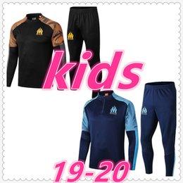 Мальчики спортивные костюмы онлайн-марсель ALGERIE Реал костюм париж детей спортивный костюм набор мальчиков 2019 2020 футбол спортивный костюм футбол костюм беговая куртка