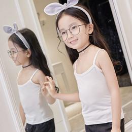 Niños 12 años modelo online-Las muchachas muchachos de los niños Verano Modelo algodón tapas del tanque del chaleco sin mangas del bebé Las camisetas Adolescente Ropa interior para niños de 2-12 años Paños