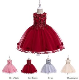 9ee0c2dfe Girls Party Dresses Princess Wedding Skirt Fashion Kids Clothing High-grade  Stereoscopic Embroidered Party Dresses sleeveless Dress