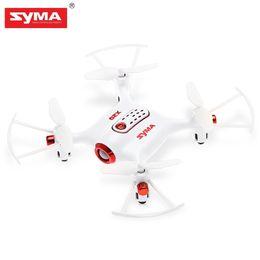 helicóptero escovado do rc do motor Desconto SYMA X20-S Mini RC Drone Rc Helicóptero RTF G-Sensor de Modo 2.4 GHz 4CH 6-Axis Gyro Uma Chave de Decolagem Escovado Portátil drones de Bolso