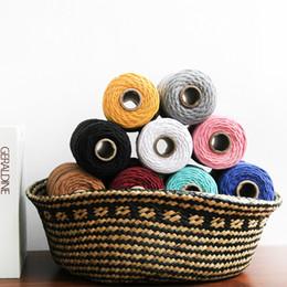 Chinesisches knotenseil online-4mm 100% Baumwolle Seil Home Woven Macrame Cord Tapisserie Kunsthandwerk Seil Dekorative Schnur Baumwollfaden Chinesischen Knoten Cord