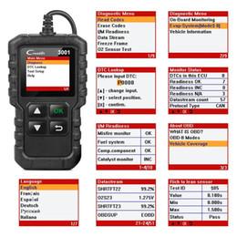 Lanzar creader actualización online-LANZAMIENTO X431 CR3001 completa OBD2 OBD 2 Código de motor del lector de Creader 3001 herramienta de diagnóstico del coche actualización gratuita PK CR319 ELM327