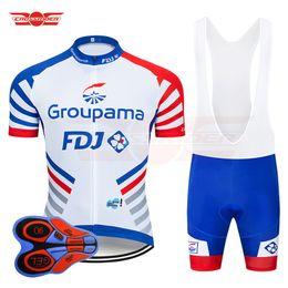equipo ciclista fdj Rebajas 2019 Pro Team FDJ Ciclismo Jersey 9D Conjunto babero Ropa de bicicleta Ropa de bicicleta Ropa Hombre Short Maillot Culotte
