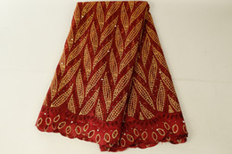 розовый измеритель ткани Скидка Бордовый кружевной ткани бисером Африканский кружевной ткани качество вышитые кружевной ткани для Нигерии платья выпускного вечера BF0003