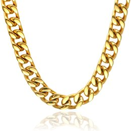 gold gefüllt kubanischen link silber Rabatt Herren Halskette Edelstahl Gliederkette Gold Und Silber 6 MM Breite Neue Frauen Halskette Punk Boy Männlichen Partei Schmuck 24 zoll
