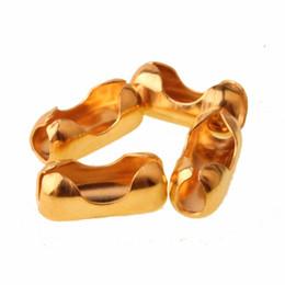 100 stücke edelstahl kugelkette anschlussverschlüsse end perlen crimp silber / gold 1,5 / 2 / 3,2 / 4/6/8/10 / 12mm schmuck zubehör von Fabrikanten