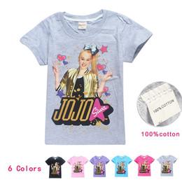 2019 pantaloncini adolescenti 18 stili JOJO SIWA Cotton T Shirt per ragazze New Summer Shirt manica corta per bambini Baby Girl Teens Headlines Abbigliamento per bambini pantaloncini adolescenti economici