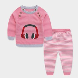 b6a961622c good quality spring autumn baby boys clothing sets cotton pajamas clothes  cartoon knitted sweater suits sleep wear sets for bebe boy