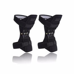2019 calcio di gomito del ginocchio del ginocchio Sollievo antisdrucciolevole respirabile antisdrucciolevole dell'ascensore del rilievo di ginocchio del giunto per la fascia protettiva della gamba di rinforzo di forza del ginocchio