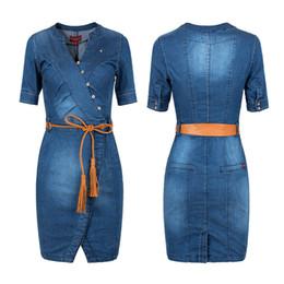 2019 New Summer Hot Sell Ladies 'Tight Sexy Denim Jeans Dress Plus Size Vêtements S-3xl C19041201 ? partir de fabricateur
