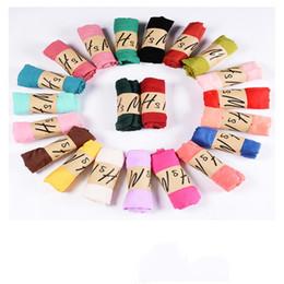 bufanda de pashmina color sólido Rebajas 37 colores Nueva bufanda de lino de algodón Color sólido Monocromo Colorido Caramelo 10 unids / lote Bufanda de seda Bufanda del regalo de las mujeres hermosas bufandas