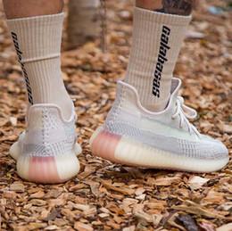 2019 calcetines para zapatillas los hombres del diseñador de moda las mujeres Kanye a correr los zapatos de baloncesto de la estrella blanca de plataforma para hombre la zapatilla de deporte de lujo calcetín tamaño de las zapatillas de deporte 5-13 calcetines para zapatillas baratos