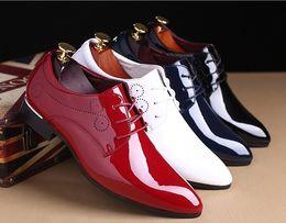 zapatos formales para hombre para boda Rebajas Ahueque los zapatos de boda de cuero formal para hombre de Oxford para hombre zapatos de vestir