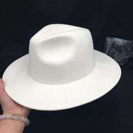 Argentina red rojo con el sombrero de lana blanca femenina sombrero del jazz Panamá lana salvaje británica sombrero de fieltro de Corea Suministro