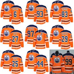 Hombres Juvenil 2019 baratos Edmonton Oilers Hockey Jerseys 97 Connor McDavid 27 Milan Lucic 29 Leon Draisaitl 99 Wayne Gretzky Hockey Jerseys desde fabricantes