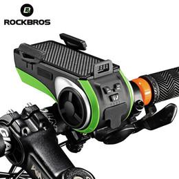 ROCKBROS Étanche Vélo Vélo Support De Téléphone Bluetooth Audio MP3 Lecteur Haut-Parleur 4400mAh Puissance Banque Anneau De Vélo Cloche Vélo Lumière # 208447 ? partir de fabricateur
