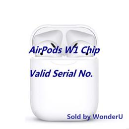 Funda superior universal online-2019 W1 Chip Airpods con número de serie válido. Comuníquese conmigo para obtener una imagen real del auricular inalámbrico, la mejor calidad de la caja, la mejor calidad de sonido