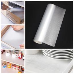 бумажные коврики Скидка 45 * 120 см утолщаются прозрачный ящик Pad бумаги кухня изоляции водонепроницаемый масло доказательство стол коврик влагостойкий домашний шкаф мат DH0555 T03
