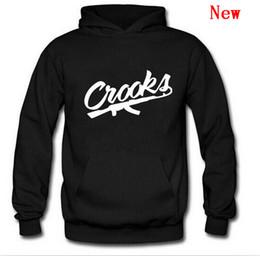 diamant gauner hoodie Rabatt Crooks und kostenloser Versand Hip-Hop-Sweatshirts Winterklage Baumwolle schwitzt für Männer Diamant Hoodie Pullover Schlösser Sweatshirt-WW-2