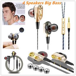 2019 nouvelle conception de la machine quatre noyaux double anneau casque Big Bass sport écouteur intra-auriculaire pour iphone samsung oppo huawei avec sac d'opp ? partir de fabricateur