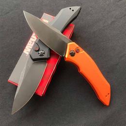 2019 tac force knife 2020 NUEVA llegada OEM Ke Xiao 7100 cuchillo plegable de aluminio de la lámina D2 mango de aleación de negro cuchillo amarilla autodefensa caza al aire libre de supervivencia viruela
