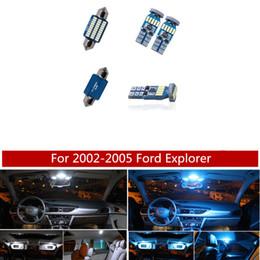 Kit 12pcs Branco Ice Blue Canbus lâmpada LED lâmpadas de carro Pacote Interior 2002-2005 Ford Explorador Mapa Dome Light Placa de