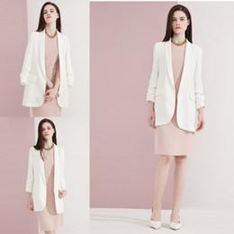 2019 weiße elegante damenjacke Weiß Elegante Mutter der Braut passt gerade nur Jacke für Damen formale Geschäftsbüro-Smoking nach Maß günstig weiße elegante damenjacke