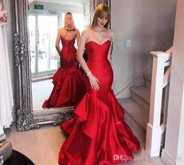 d1a140ab6300 abiti estivi per taglie piccole Sconti 2019 Vintage Red Evening Dress  Modest Sleeveless Long Summer Formal