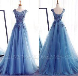 21c1f0f2203 light up dresses Promo Codes - Princess Ice Blue 3D Appliques Quinceanera  Dresses Lace-up