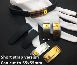 fibbia breitling Sconti più breve in silicone 20 millimetri cinturino di gomma cinturino nero per la cinghia Ruolo GMT OYSTERFLEX Bracciale strumento gratuito